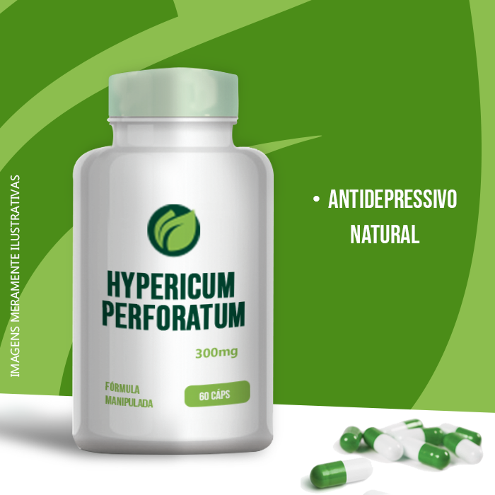 HIPERICUM PERFORATUM -  300MG - 60 CPS - ANTIDEPRESSIVO NATURAL